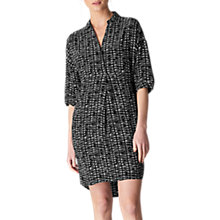 Buy Whistles Lola Sahara Print Dress, Black/Multi Online at johnlewis.com