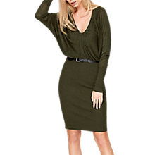 Buy Damsel in a dress Akira Blouson Knitted Dress, Khaki Online at johnlewis.com