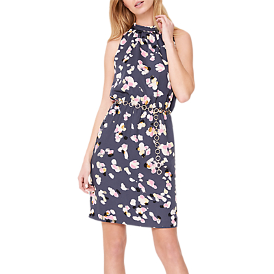 Damsel in a Dress Petal Print Drape Dress, Multi