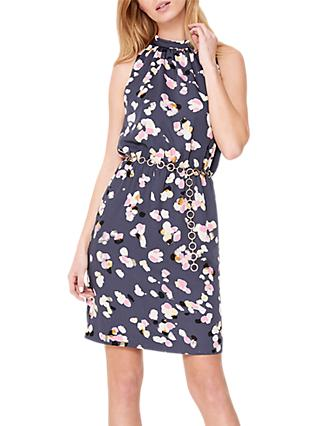 Damsel in a Dress Petal Print Drape Dress, Multi