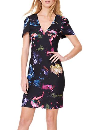 Damsel in a Dress Pixelated Floral Print Dress, Multi