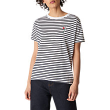 Buy Whistles Tulip Embroidered T-Shirt, Multi Online at johnlewis.com