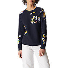 Buy Whistles Lottie Floral Sweatshirt, Multi Online at johnlewis.com