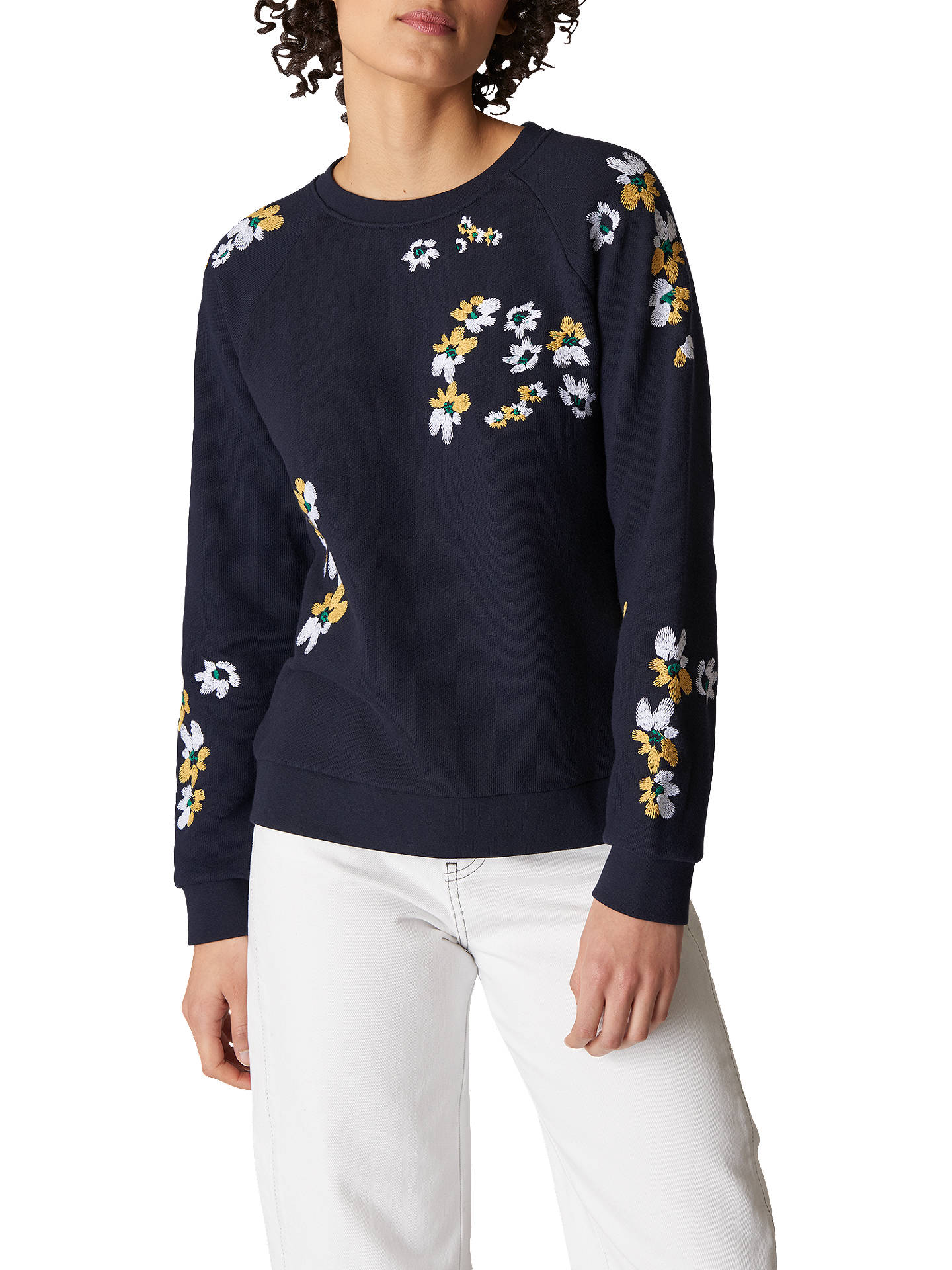 6e23ce6a68 Whistles Lottie Floral Sweatshirt, Multi at John Lewis & Partners