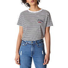 Buy Whistles Stripe Dove Logo T-Shirt, Multi Online at johnlewis.com