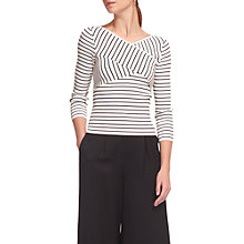 Buy Whistles Wrap Front Striped Jumper, Multi Online at johnlewis.com