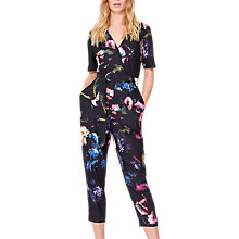 Buy Damsel in a dress Pixelated Floral Print Jumpsuit, Multi Online at johnlewis.com