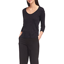 Buy Whistles Annie Sparkle Knit Scoop Neck Jumper Online at johnlewis.com