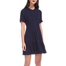 Buy Whistles Tilly Pleat Detail Dress, Navy Online at johnlewis.com