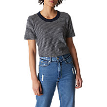 Buy Whistles Rosa Stripe T-Shirt, Navy/Multi Online at johnlewis.com