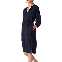 Buy Whistles Thalia Tie Dress, Navy Online at johnlewis.com