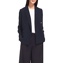Buy Whistles Double Breasted Blazer Jacket, Navy Online at johnlewis.com