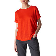 Buy Whistles Short Sleeve Linen T-Shirt Online at johnlewis.com