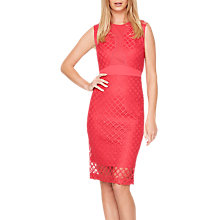 Buy Damsel in a Dress Grid Lace Dress, Cherry Online at johnlewis.com