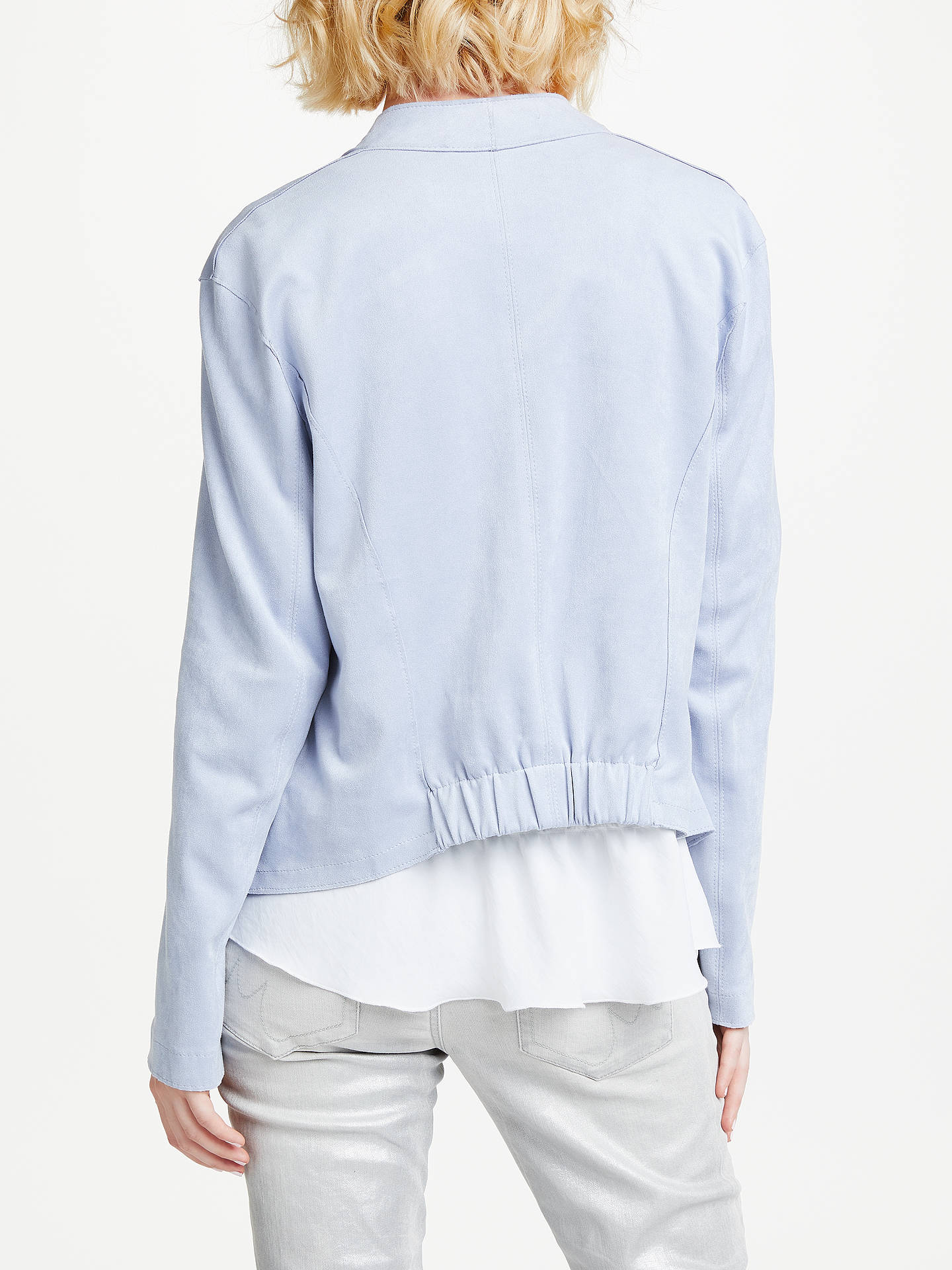 BuyMarc Cain Faux Suede Jacket, Blue, 12 Online at johnlewis.com