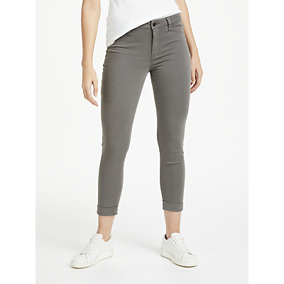 J Brand Anja Mid Rise Cropped Cuffed Skinny Jeans