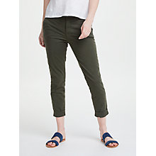 Buy J Brand Josie Tapered Leg Trousers, Linden Online at johnlewis.com