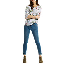 Buy Joules Aylesham Sweatshirt, Grey Marl Botanicals Online at johnlewis.com