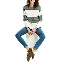 Buy Joules Uma Stripe Jumper, Green Online at johnlewis.com