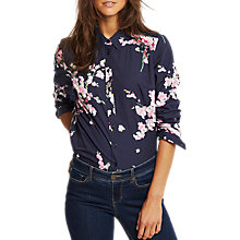 Buy Joules Lucie Printed Shirt, French Navy Blossom Online at johnlewis.com
