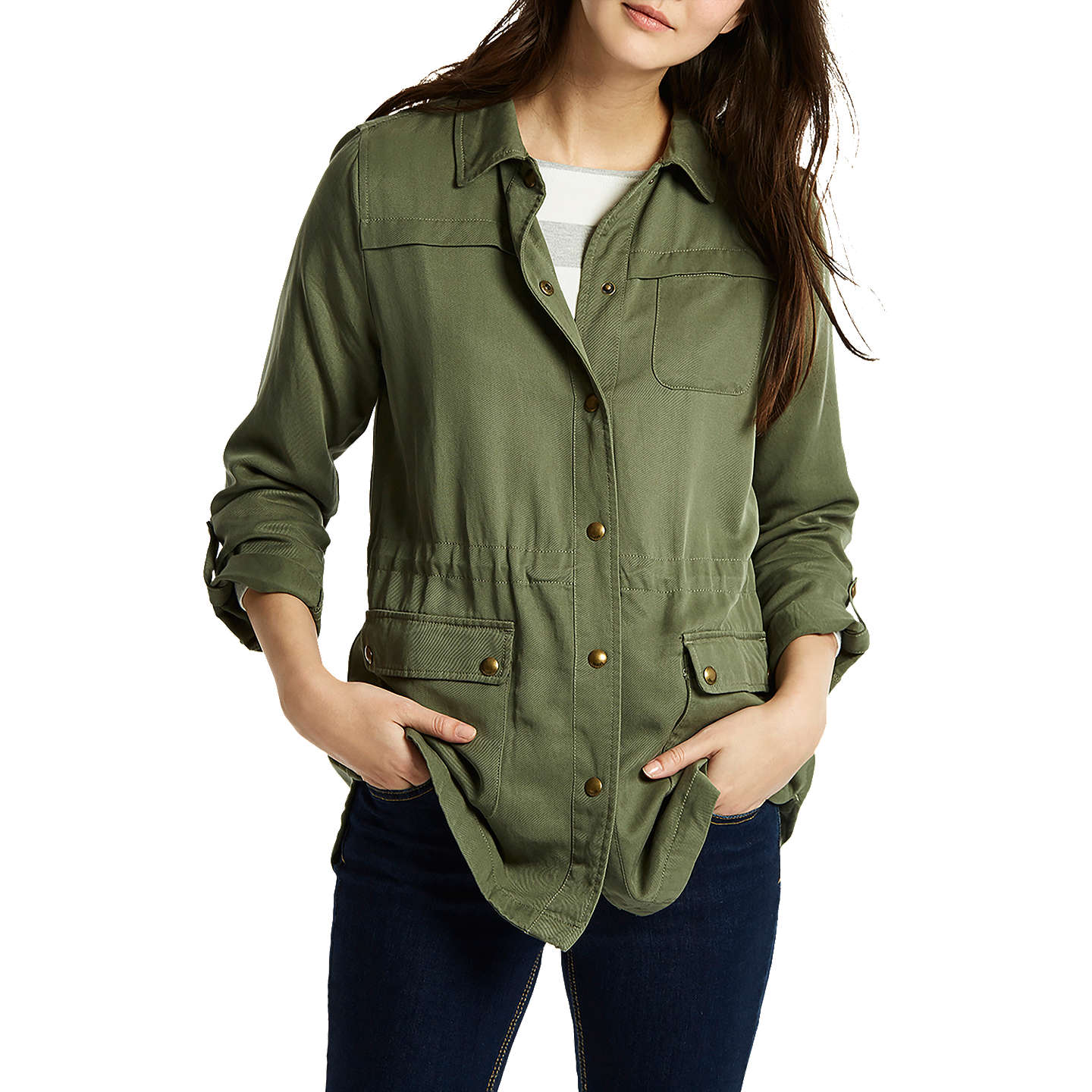 BuyJoules Cassidy Safari Jacket, Khaki, 8 Online at johnlewis.com ...