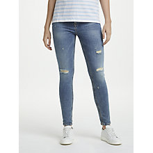 Buy Calvin Klein High Rise Skinny Ankle Jeans, Isolation Blue Online at johnlewis.com