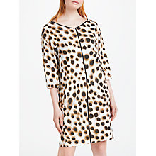 Buy Marc Cain Animal Print Shift Dress, Brown/Cream Online at johnlewis.com