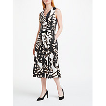 Buy Marc Cain Printed Cotton Midi Dress, Black/Off White Online at johnlewis.com