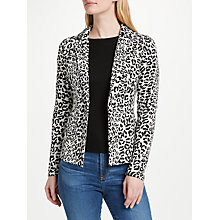 Buy Oui Leo Print Blazer, Black/White Online at johnlewis.com
