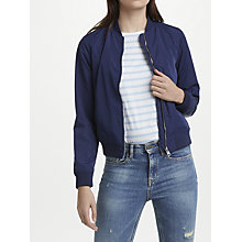 Buy Calvin Klein Owrana Bomber Jacket, Peacoat Online at johnlewis.com