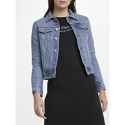 Calvin Klein Clean Line Trucker Denim Jacket, Blue