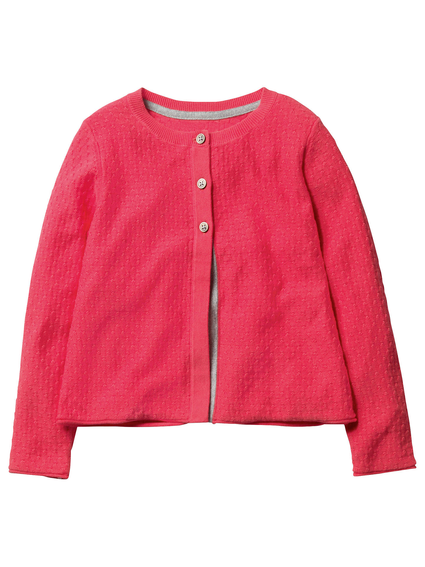 Mini Boden Girls Pretty Cardigan Pink At John Lewis Partners