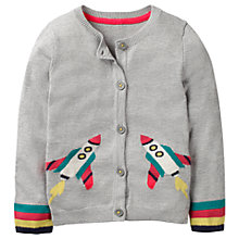 Buy Mini Boden Girls' Space Cardigan, Grey Marl Online at johnlewis.com