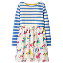 Buy Mini Boden Girls' Hotchpotch Dress, Blue/Pink Online at johnlewis.com