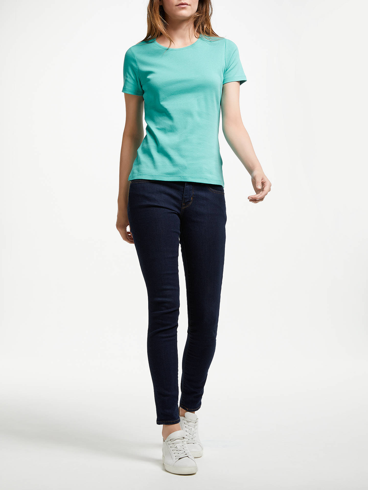 BuyJohn Lewis & Partners Crew Neck T-Shirt, Peacock Green, 8 Online at johnlewis.com