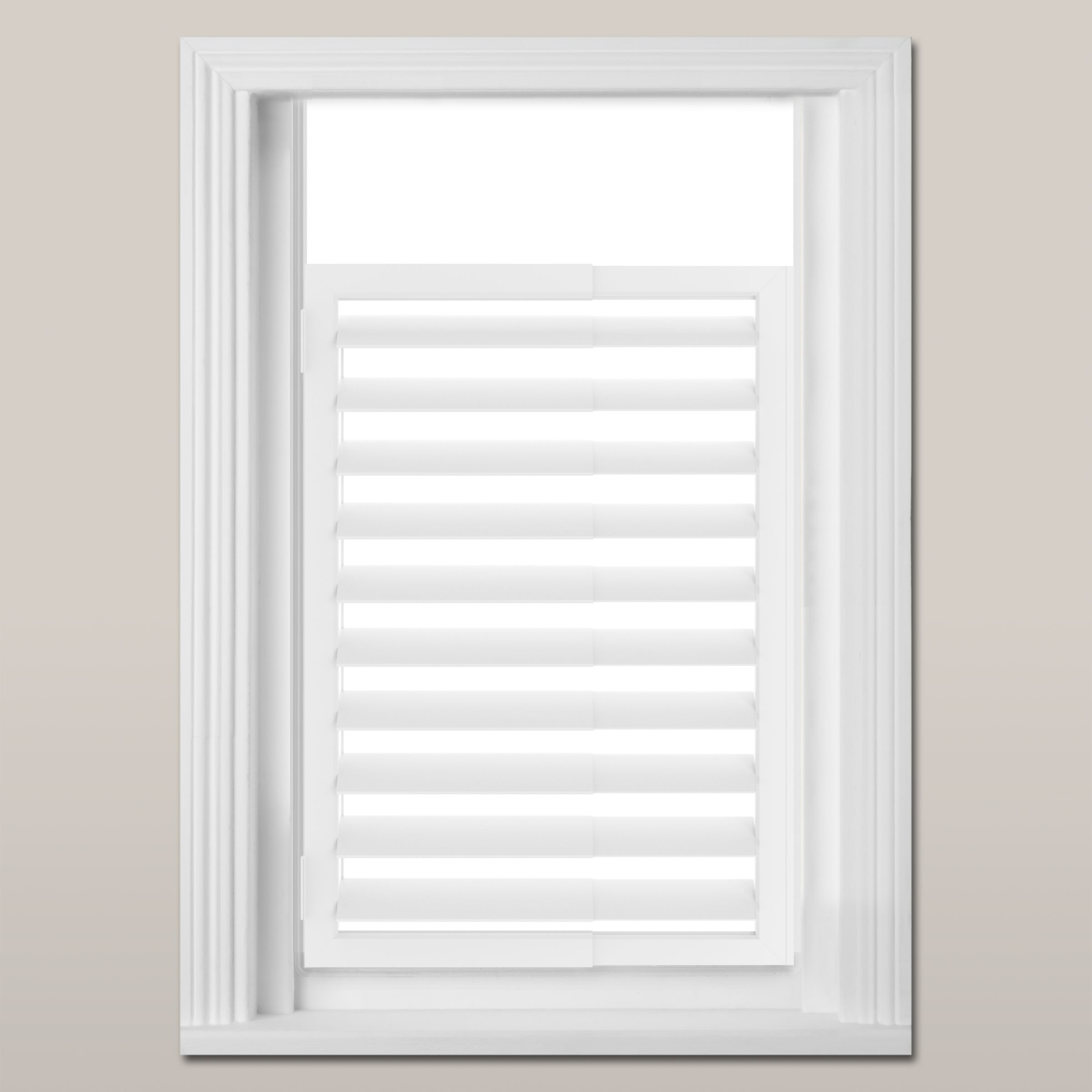 Umbra Expansa Extendable Window Shutter White