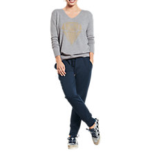 Buy hush Diamond Jumper, Grey Marl/Metallic Gold Online at johnlewis.com