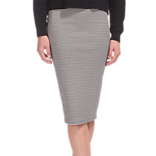Buy Whistles Striped Tube Skirt, Black/White Online at johnlewis.com