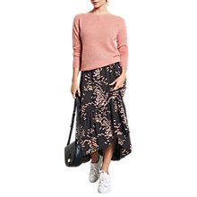 Buy hush Veria Dragonfly Print Skirt, Black/Pink Online at johnlewis.com