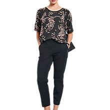 Buy hush Dragonfly Print T-Shirt, Black/Pink Online at johnlewis.com