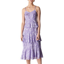 Buy Whistles Luisa Satin Midi Dress, Lilac Online at johnlewis.com