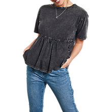 Buy hush Frill T-Shirt, Washed Black Online at johnlewis.com