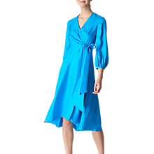 Buy Whistles Callie Silk Wrap Dress, Turquoise Online at johnlewis.com