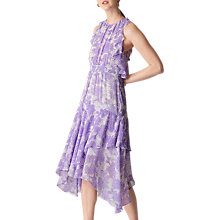 Buy Whistles Anne Floral Print Dress, Lilac Online at johnlewis.com