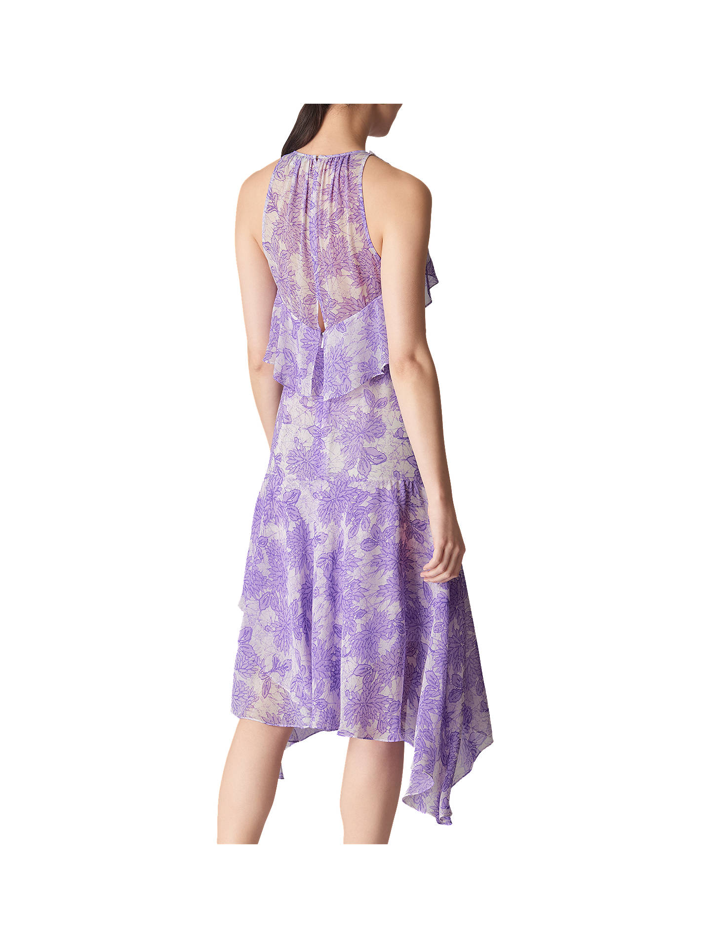 BuyWhistles Anne Floral Print Dress, Lilac, 14 Online at johnlewis.com
