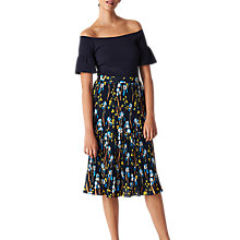Buy Whistles Iris Print Tiered Skirt, Navy/Multi Online at johnlewis.com