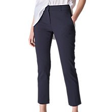 Buy Whistles Sadie 2 Slim Leg Trousers, Navy Online at johnlewis.com