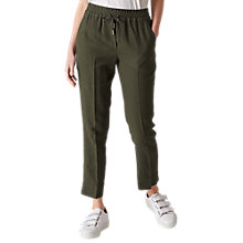 Buy Whistles Linen Trousers, Khaki Online at johnlewis.com