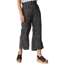 Buy Whistles Sahara Printed Wide Leg Trousers, Black/White Online at johnlewis.com