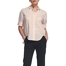 Buy Whistles Ophelia Cotton Shirt, Pale Pink Online at johnlewis.com
